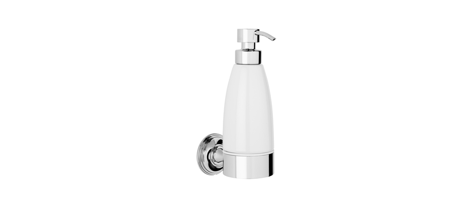 Samuel Heath N6647W Style Moderne White Liquid Soap Dispenser
