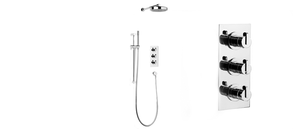 "Samuel Heath V105A-KIT Xenon 3/4"" Concealed Thermostatic Shower"