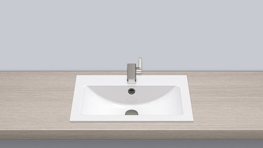 Alape 2202000000 EB.R585H Built-in Basin