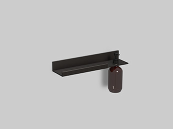 Alape 8270310980 AS.400.LO.R Walmount Shelf