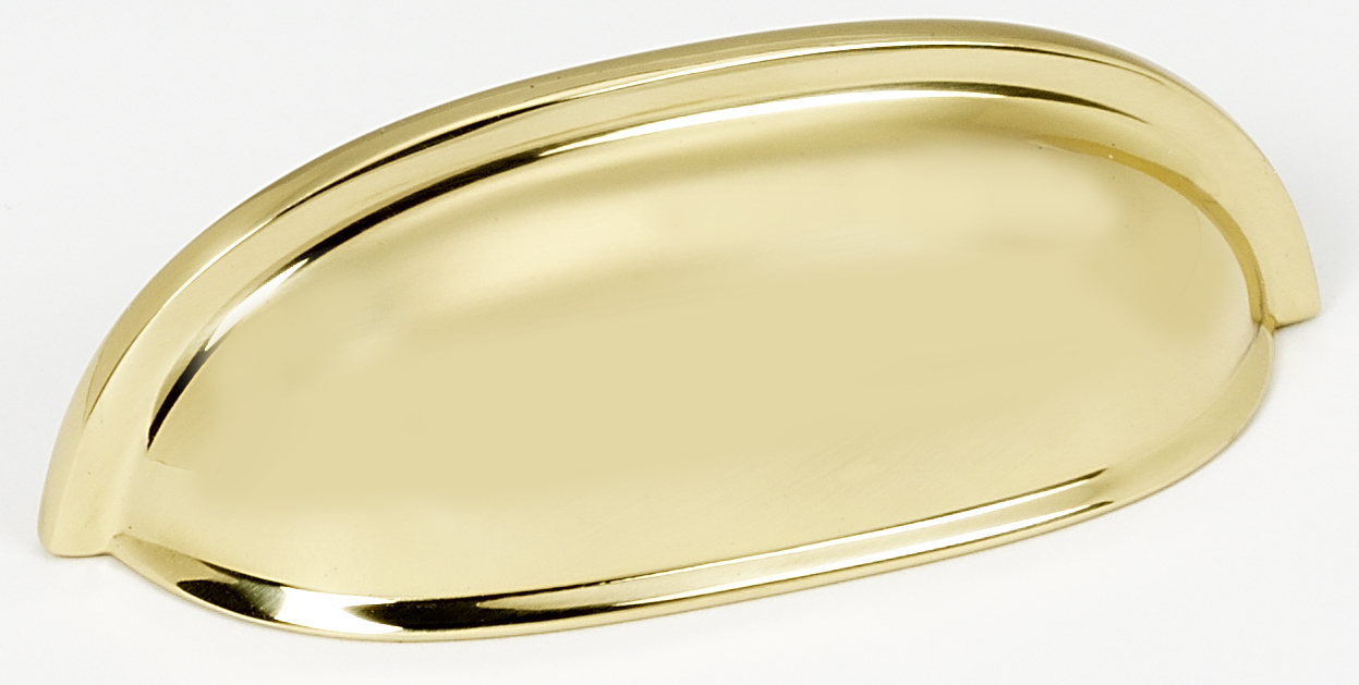 "Alno A1262-PB 3"" Cup Pull - Polished Brass"