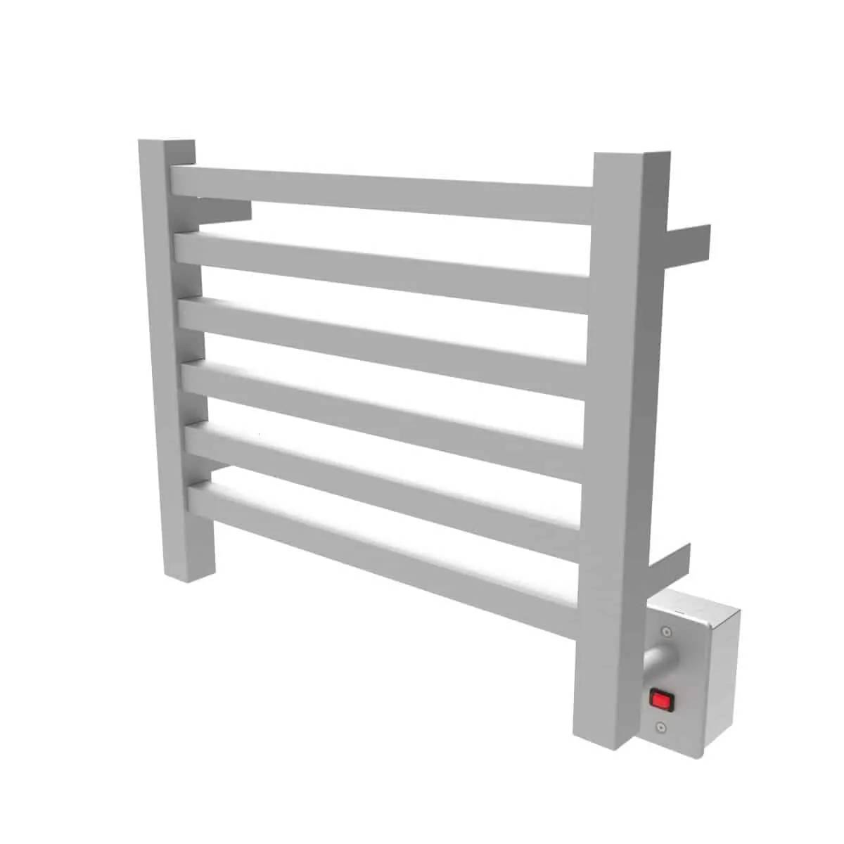 Amba Q2016B Quadro Heated Towel Rack - Brushed