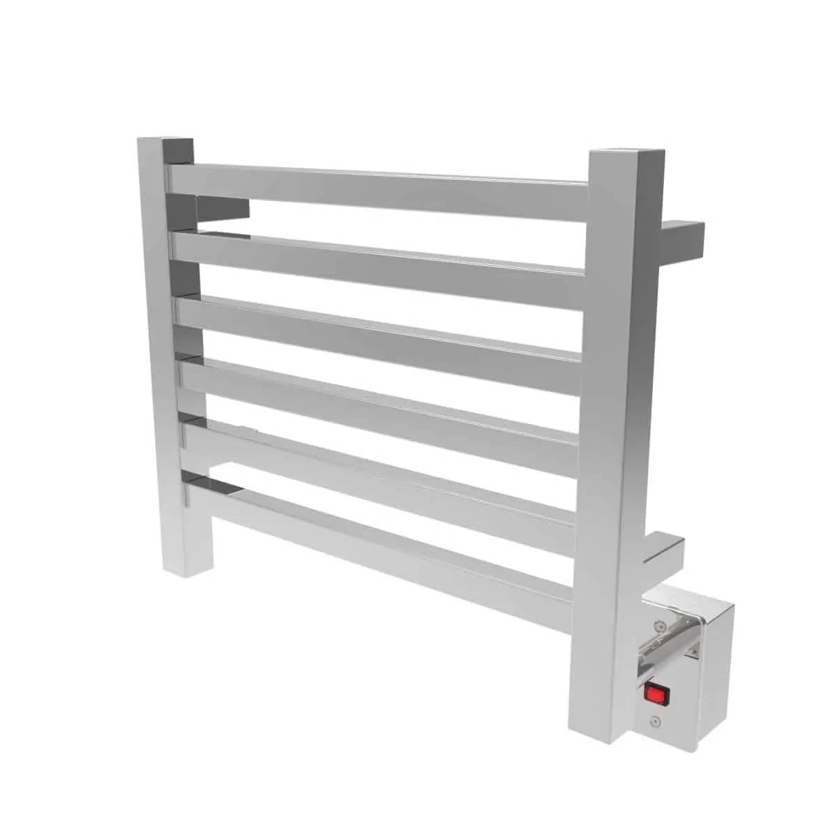 Amba Q2016P Quadro Heated Towel Rack - Polished