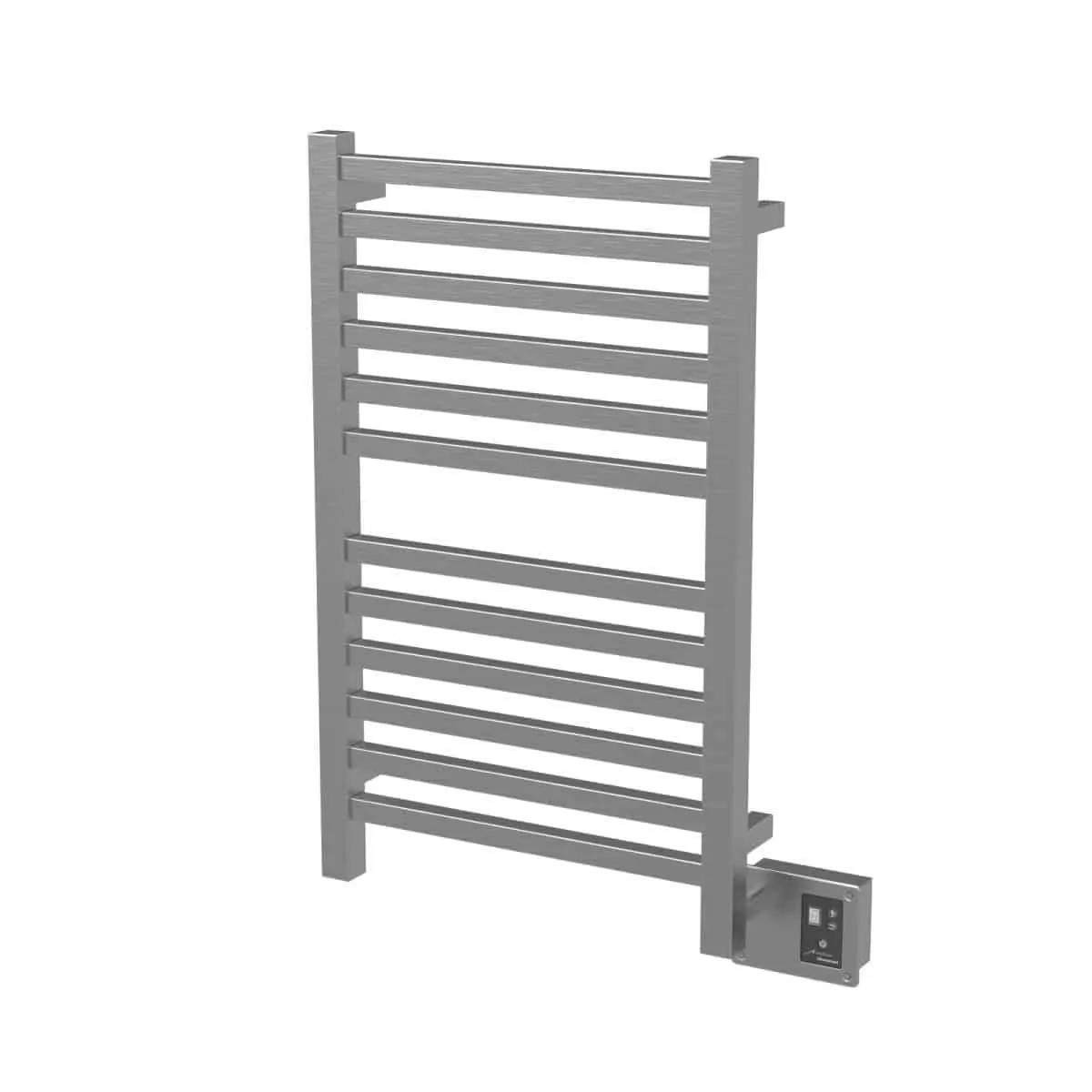 Amba Q2033B Quadro Heated Towel Rack - Brushed