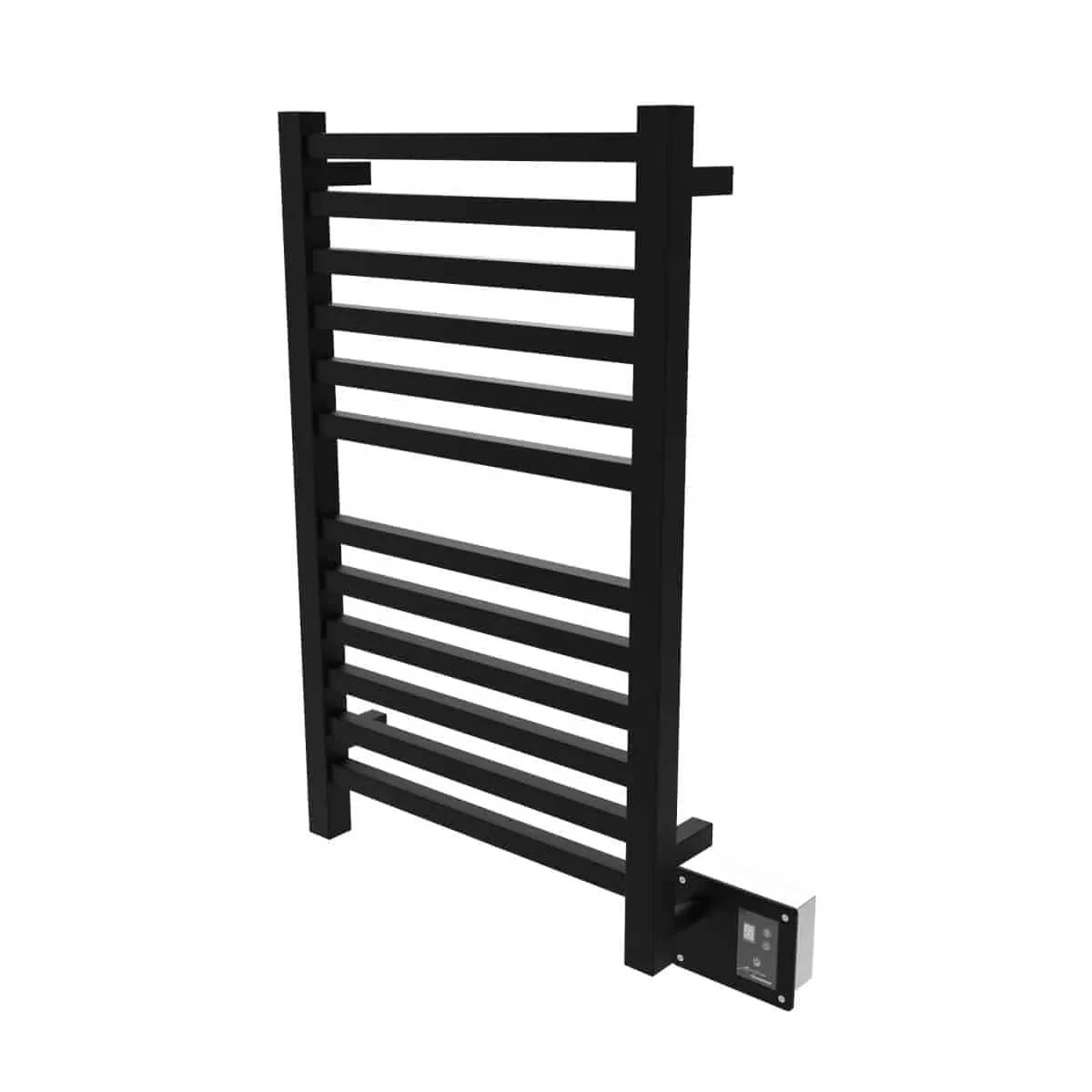 Amba Q2033MB Quadro Heated Towel Rack - Matte Black