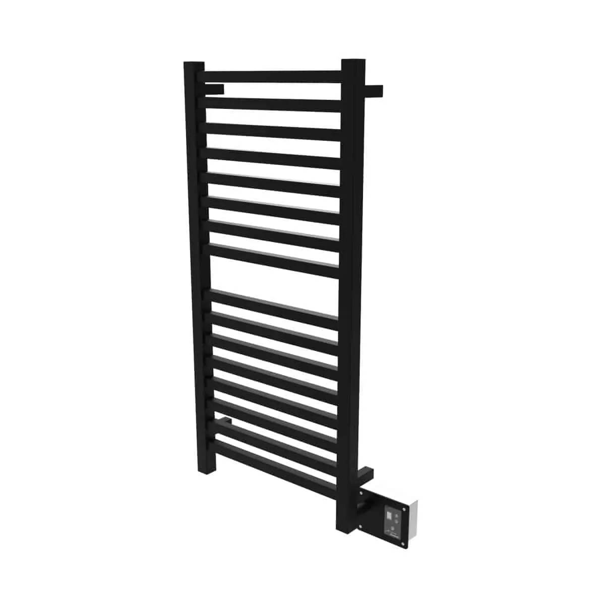 Amba Q2042MB Quadro Heated Towel Rack - Matte Black
