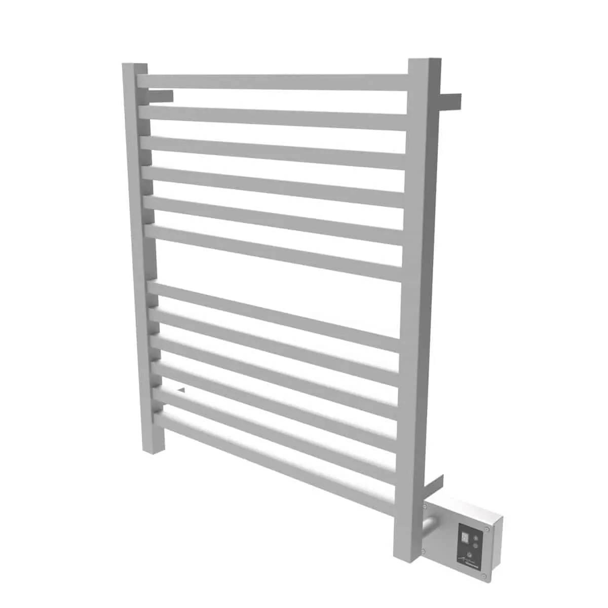 Amba Q2833B Quadro Heated Towel Rack - Brushed