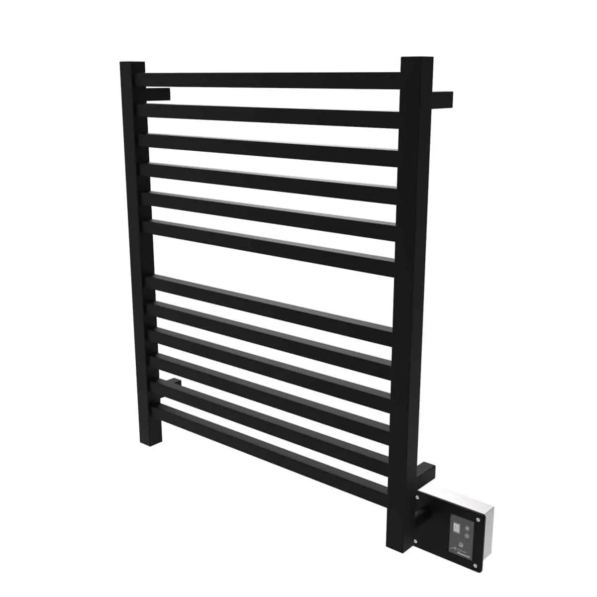 Amba Q2833MB Quadro Heated Towel Rack - Matte Black