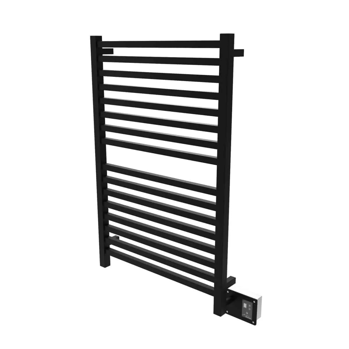 Amba Q2842MB Quadro Heated Towel Rack - Matte Black