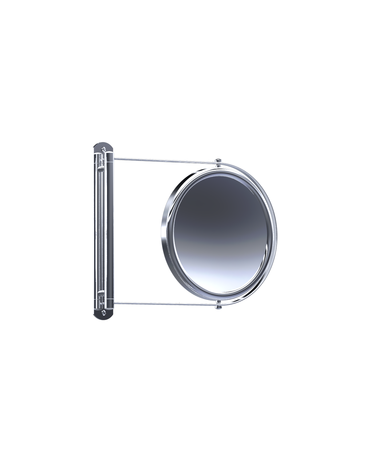 Baci E3-X CHR Baci Basic Round Swing Out Mirror - Unlighted - Polished Chrome