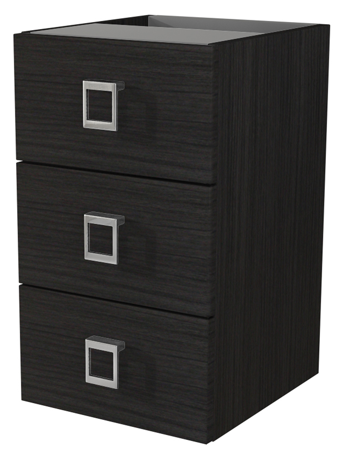 "Baden Haus 44405 11.8"" Florida Collection Dark Gray Vein Chest Side Cabinet with 3 Drawers"