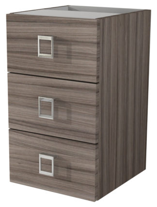 "Baden Haus 44445 11.8"" Florida Collection Larch Chest Side Cabinet with 3 Drawers"