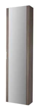 "Baden Haus 44695 13.8 ""W x 55.1""H General Collection larch Linen Cabinet with Mirror"