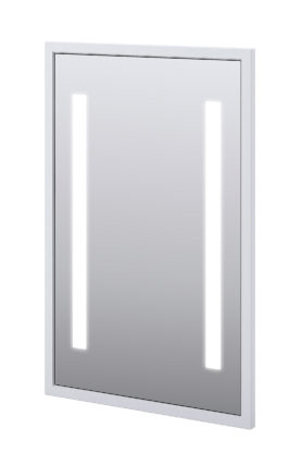 "Baden Haus 45014 23.2""W x 35.4""H Mirror LED Matt White"