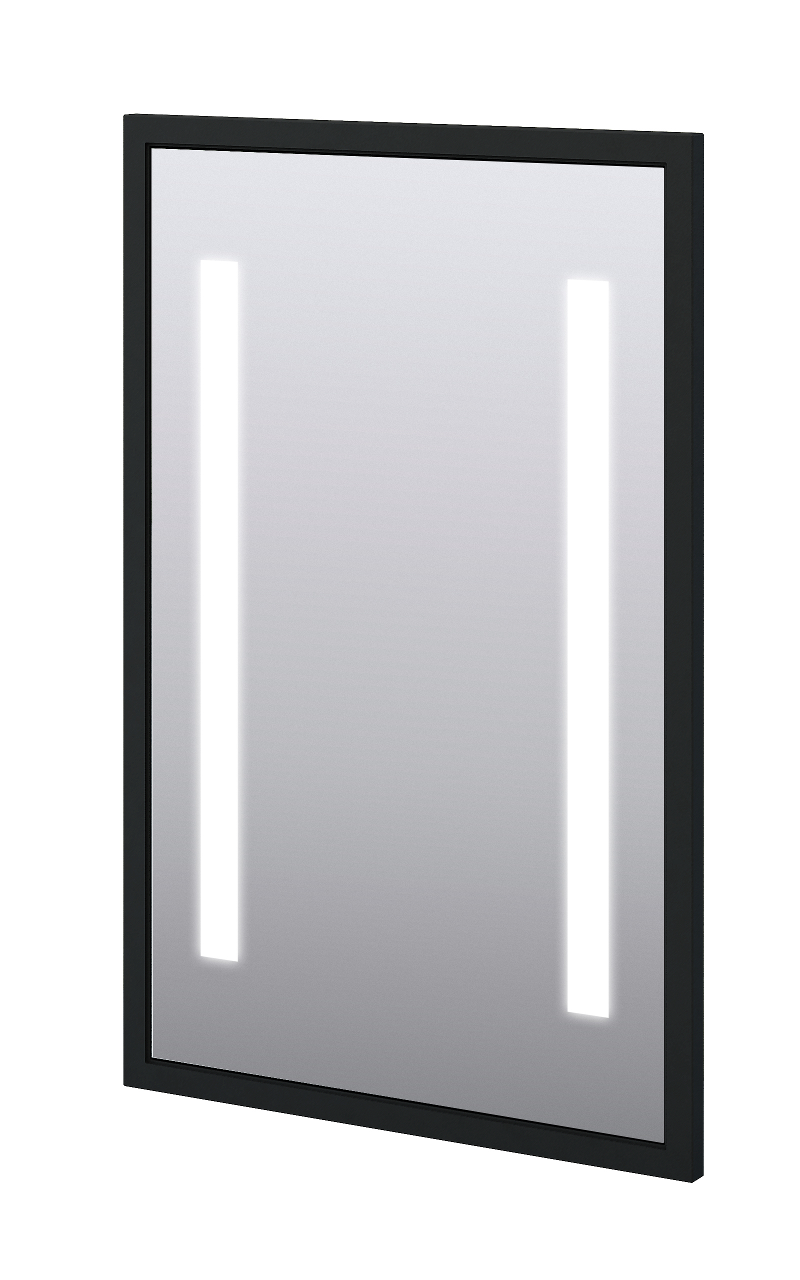 "Baden Haus 45015 23.2""W x 35.4""H Mirror LED Matt Black"