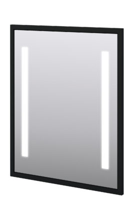 "Baden Haus 45017 28.7""W x 35.4""H Mirror LED Matt Black"