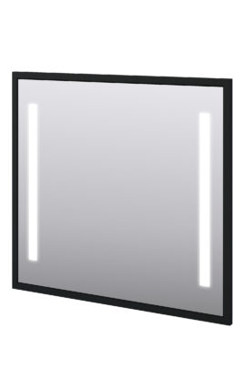 "Baden Haus 45019 38.6""W x 35.4""H Mirror LED Matt Black"