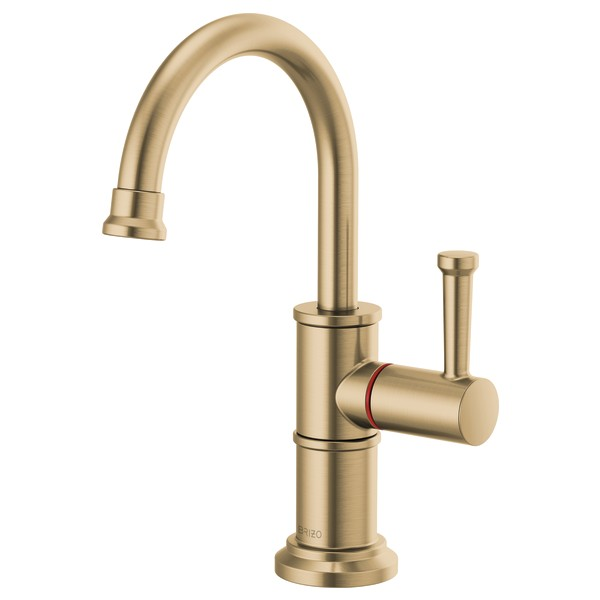 Brizo 61325LF-H-GL Artesso Instant Hot Faucet with Arc Spout - Luxe Gold