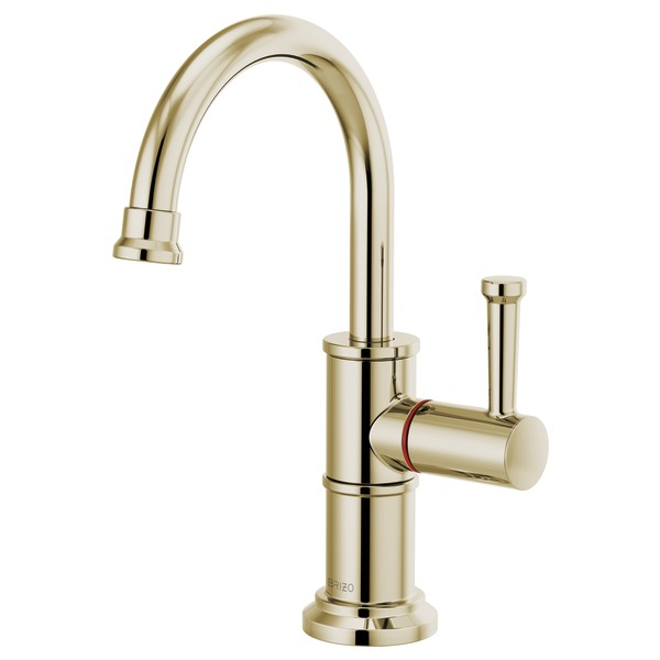 Brizo 61325LF-H-PN Artesso Instant Hot Faucet with Arc Spout - Polished Nickel