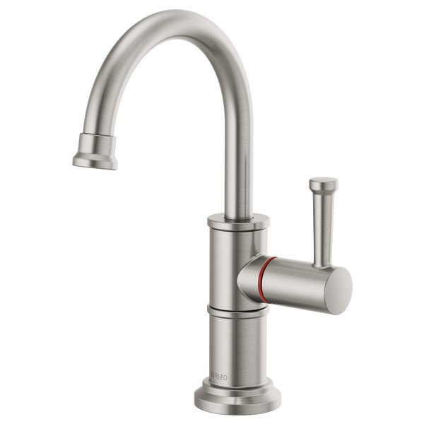 Brizo 61325LF-H-SS Artesso Instant Hot Faucet with Arc Spout - Stainless