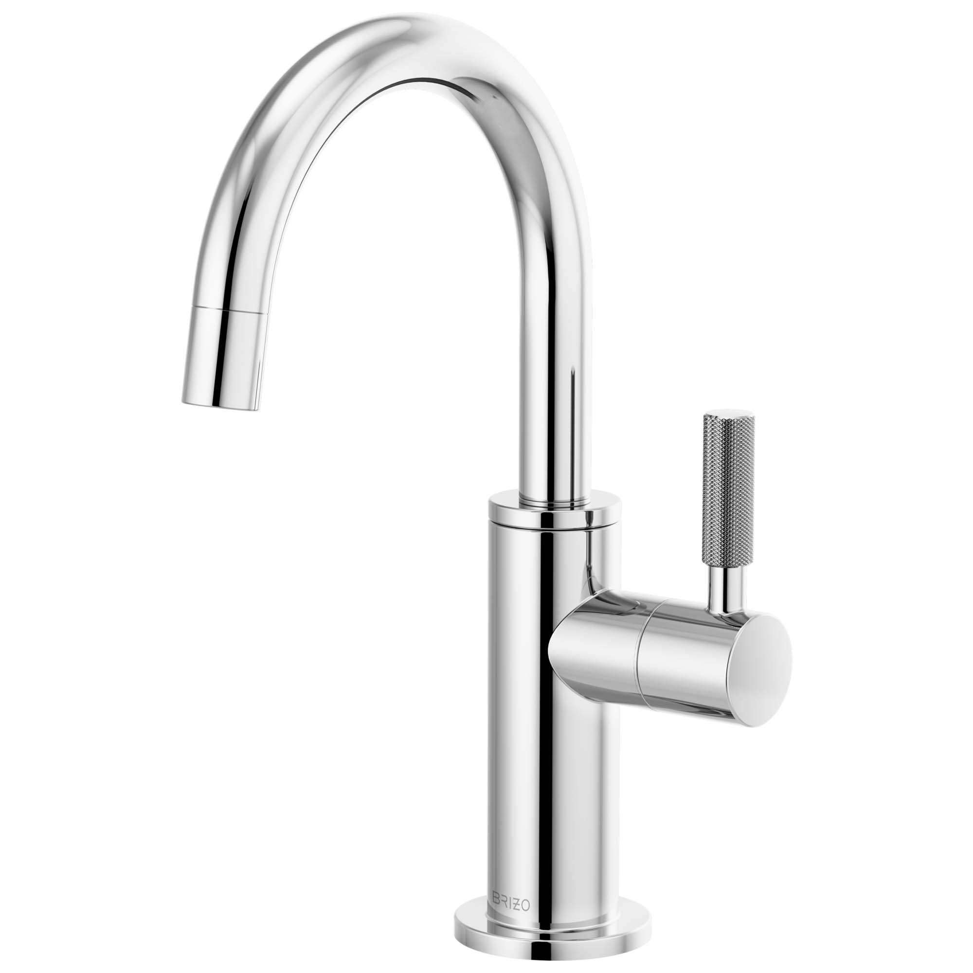 Brizo 61343LF-C-PC Litze Beverage Faucet with Arc Spout and Knurled Handle - Chrome