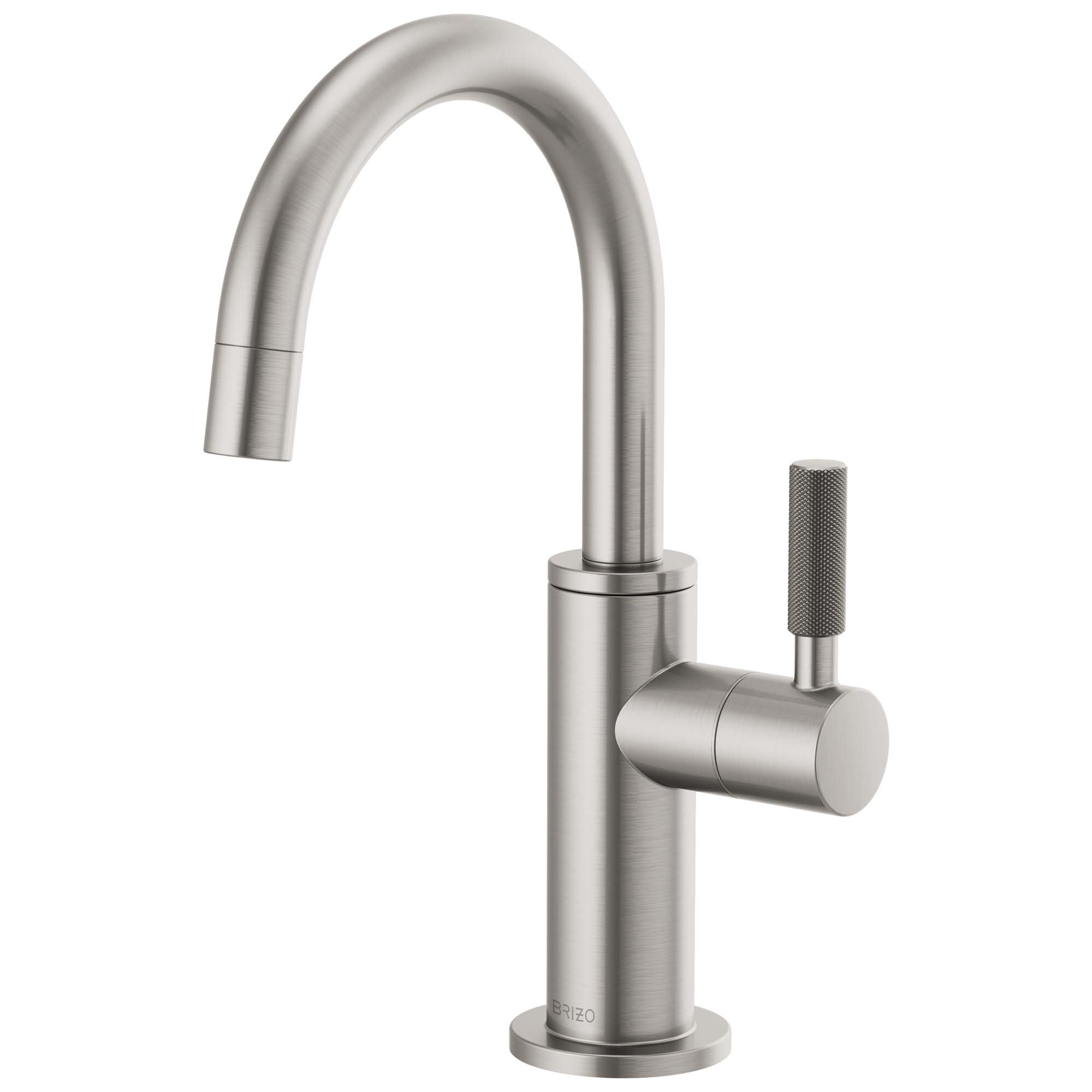 Brizo 61343LF-C-SS Litze Beverage Faucet with Arc Spout and Knurled Handle - Stainless