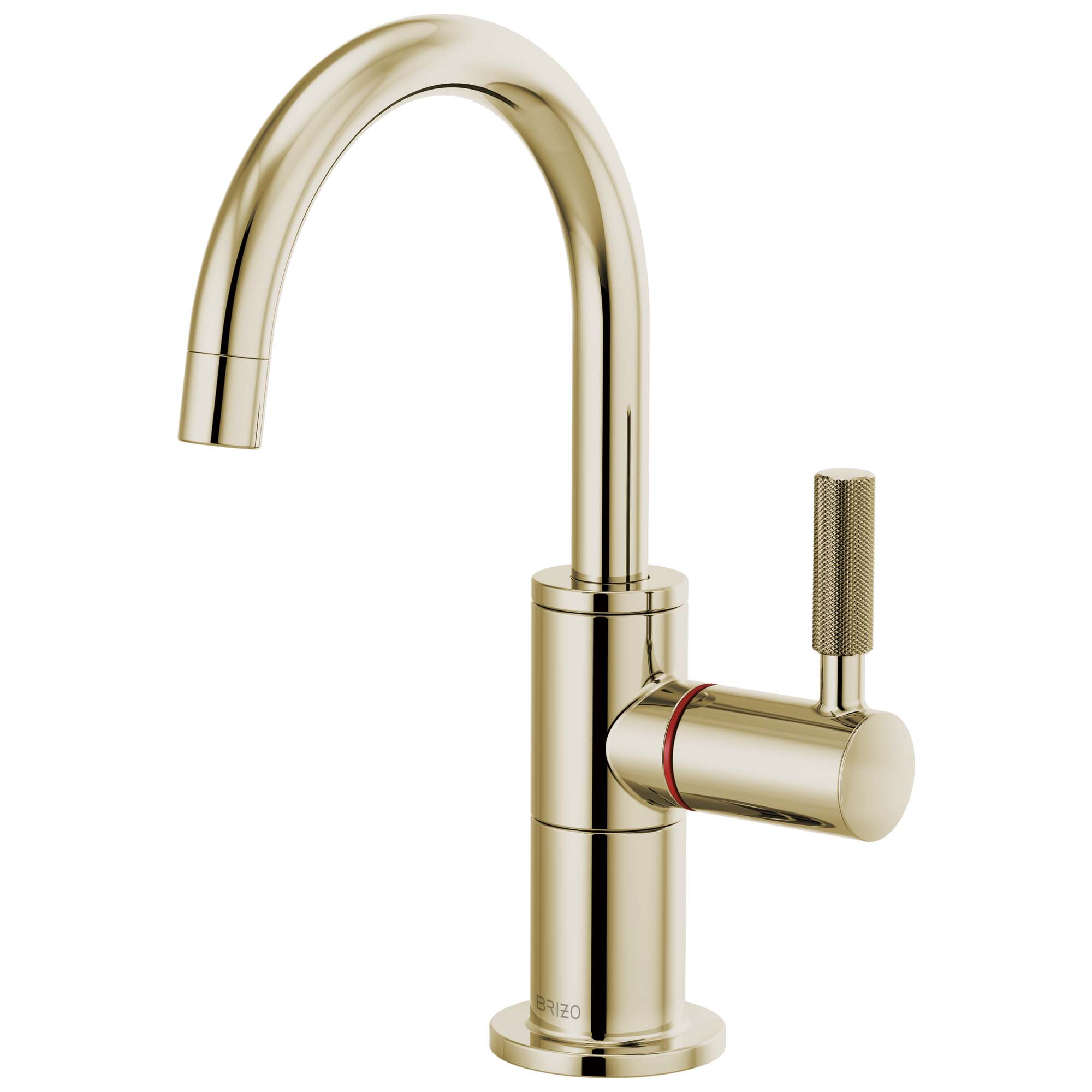 Brizo 61343LF-H-PN Litze Instant Hot Faucet with Arc Spout and Knurled Handle - Polished Nickel