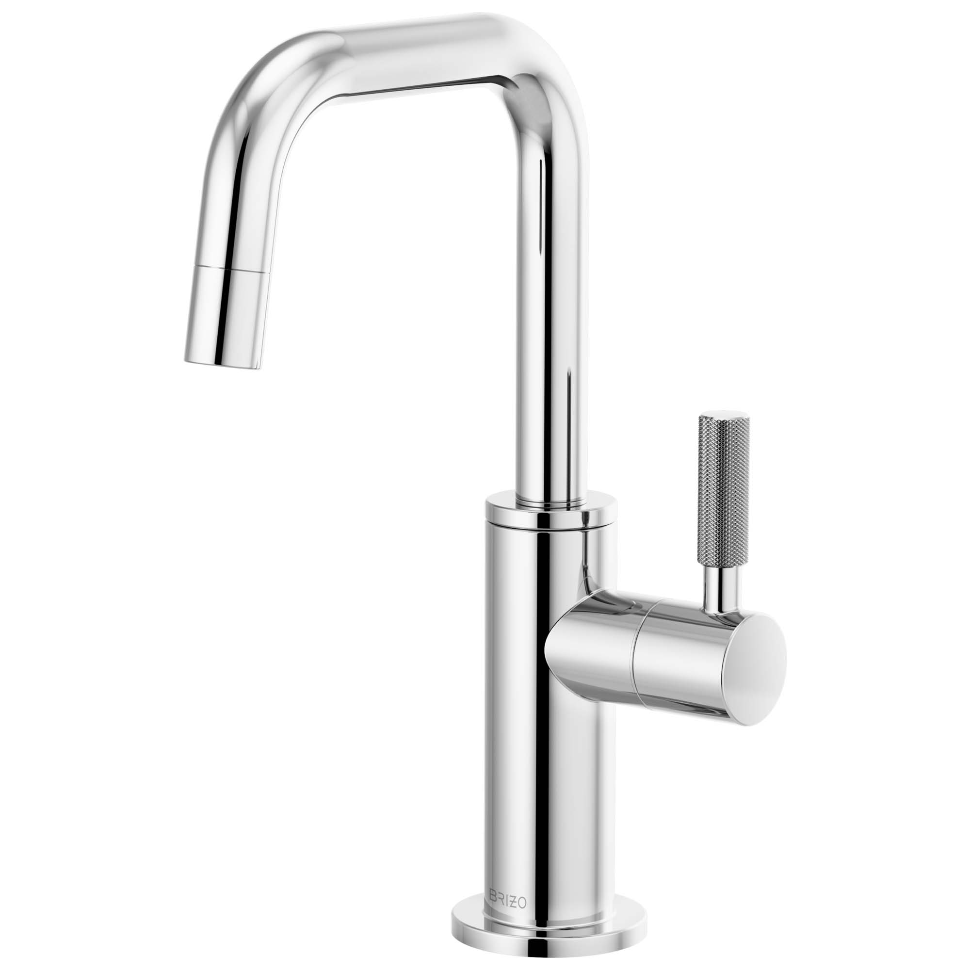 Brizo 61353LF-C-PC Litze Beverage Faucet with Square Spout and Knurled Handle - Chrome