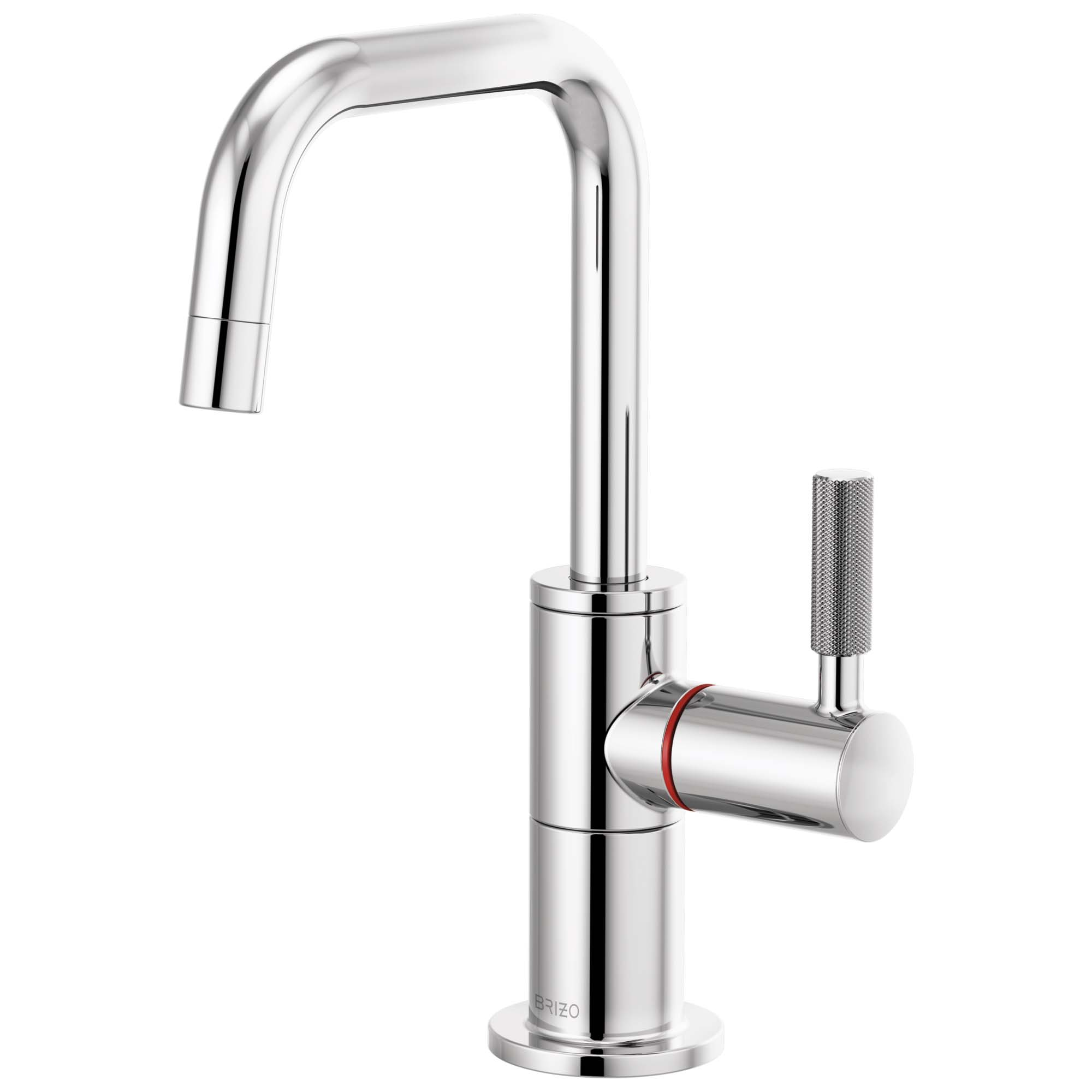 Brizo 61353LF-H-PC Litze Instant Hot Faucet with Square Spout and Knurled Handle - Chrome