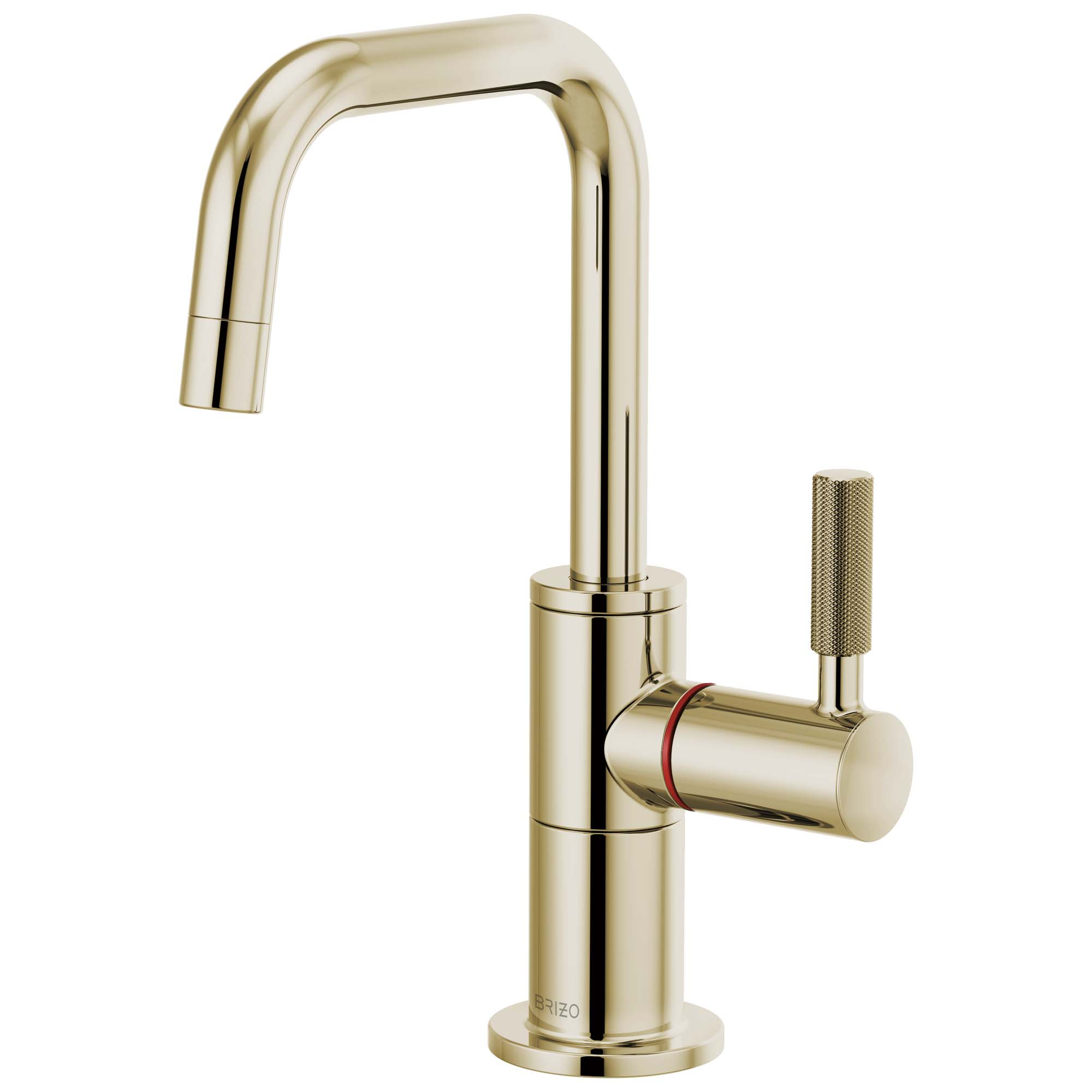 Brizo 61353LF-H-PN Litze Instant Hot Faucet with Square Spout and Knurled Handle - Polished Nickel