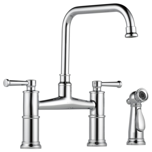 Brizo 62525LF-PC Artesso Bridge Faucet with Side Sprayer - Chrome