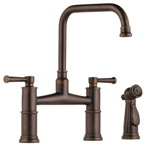 Brizo 62525LF-RB Artesso Bridge Faucet with Side Sprayer - Venetian Bronze