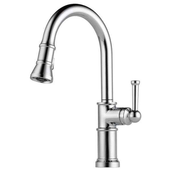 Brizo 63025LF-PC Artesso Single Handle Pull Down Kitchen Faucet - Chrome