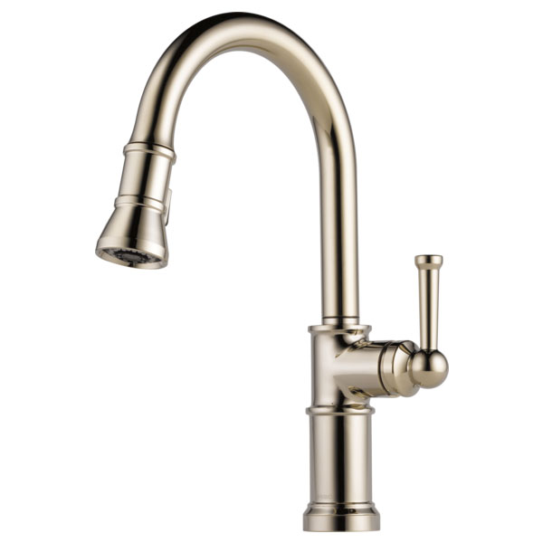 Brizo 63025LF-PN Artesso Single Handle Pull Down Kitchen Faucet - Polished Nickel