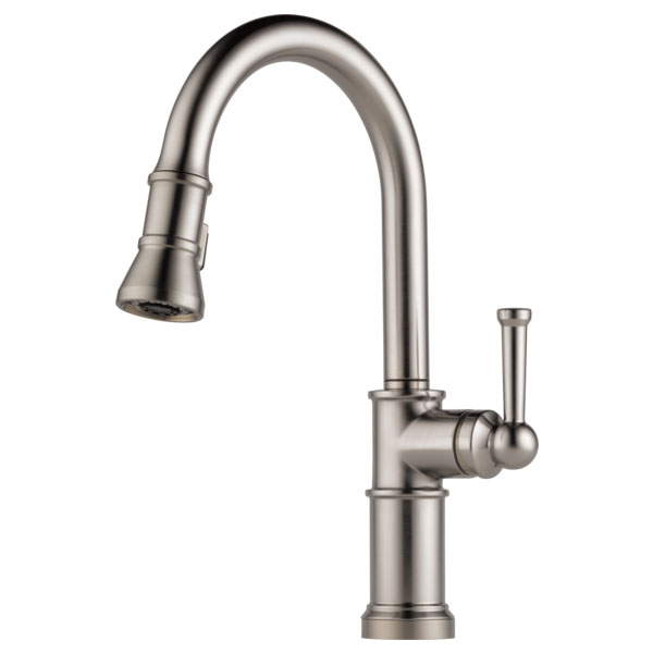 Brizo 63025LF-SS Artesso Single Handle Pull Down Kitchen Faucet - Stainless