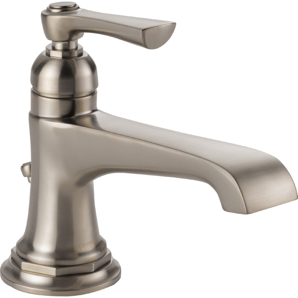 Brizo 65060LF-NK-ECO Rook Single Handle Single Hole Lavatory Faucet - Luxe Nickel