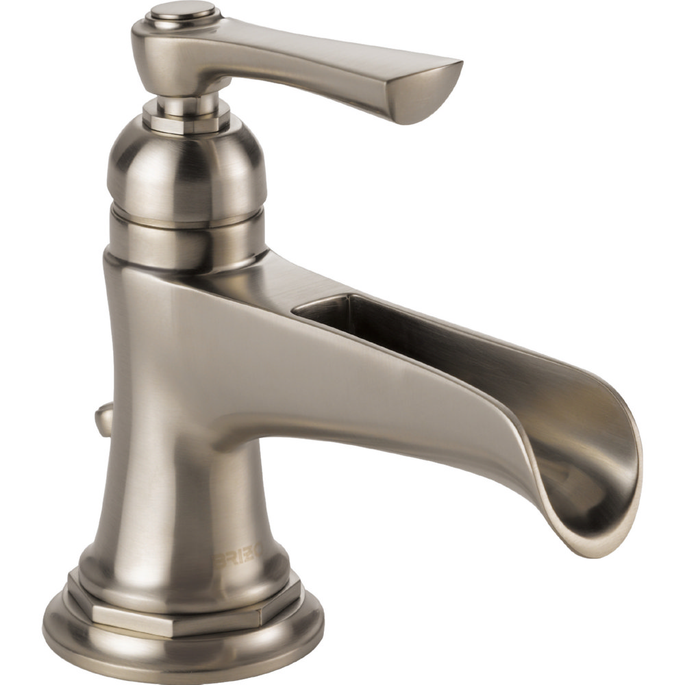 Brizo 65061LF-NK-ECO Rook Single Handle Single Hole Lavatory Faucet - Luxe Nickel