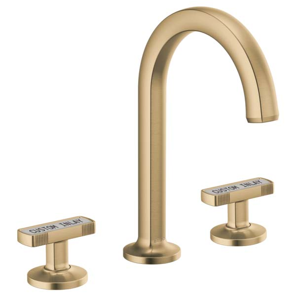 Brizo 65306LF-GLLHP-ECO Kintsu Two Handle Widespread Lavatory Faucet - Less Pop-Up - Luxe Gold