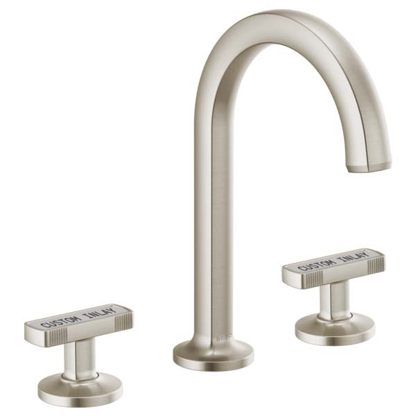 Brizo 65306LF-NKLHP Kintsu Two Handle Widespread Lavatory Faucet - Less Pop-Up - Luxe Nickel