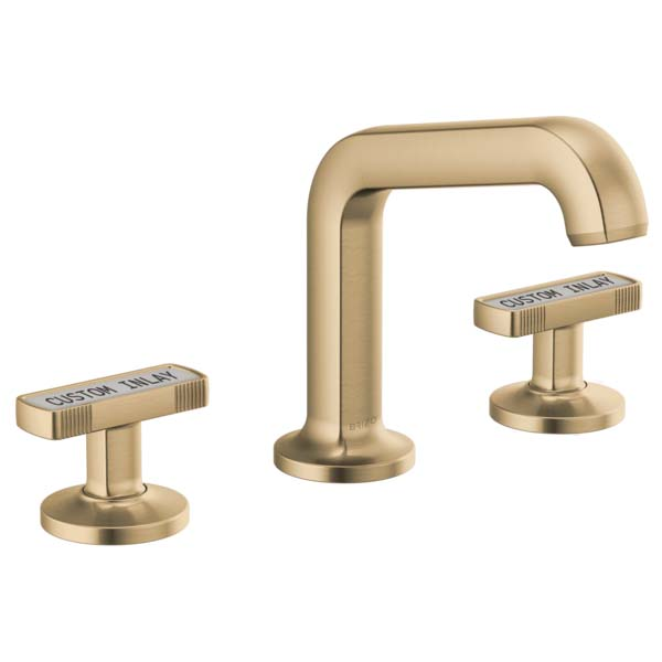 Brizo 65307LF-GLLHP Kintsu Two Handle Widespread Lavatory Faucet - Less Pop-Up - Luxe Gold