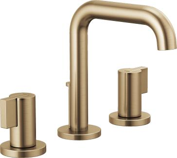Brizo 65335LF-GLLHP-ECO Litze Widespread Lavatory Faucet with Less Handles - Luxe Gold