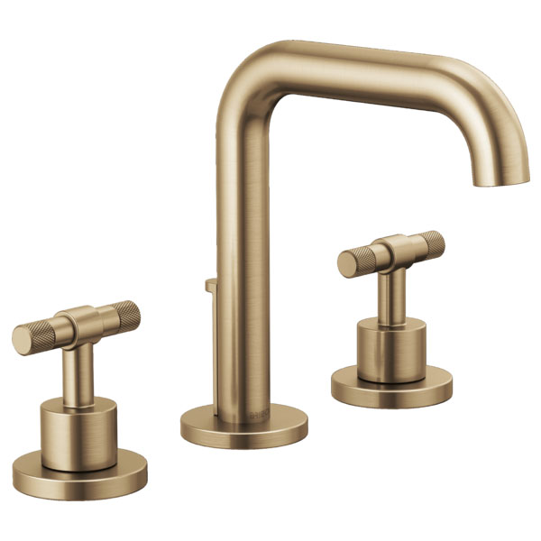 Brizo 65335LF-GLLHP Litze Widespread Lavatory Faucet with Less Handles - Luxe Gold