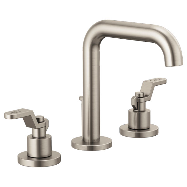 Brizo 65335LF-NKLHP Litze Widespread Lavatory Faucet with Less Handles - Luxe Nickel