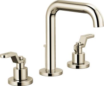 Brizo 65335LF-PNLHP-ECO Litze Widespread Lavatory Faucet with Less Handles - Polished Nickel