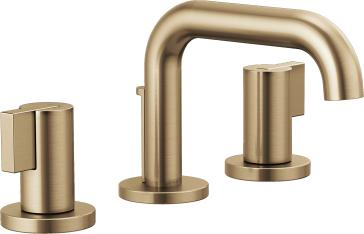 Brizo 65337LF-GLLHP-ECO Litze Widespread Lavatory Faucet with Less Handles - Luxe Gold