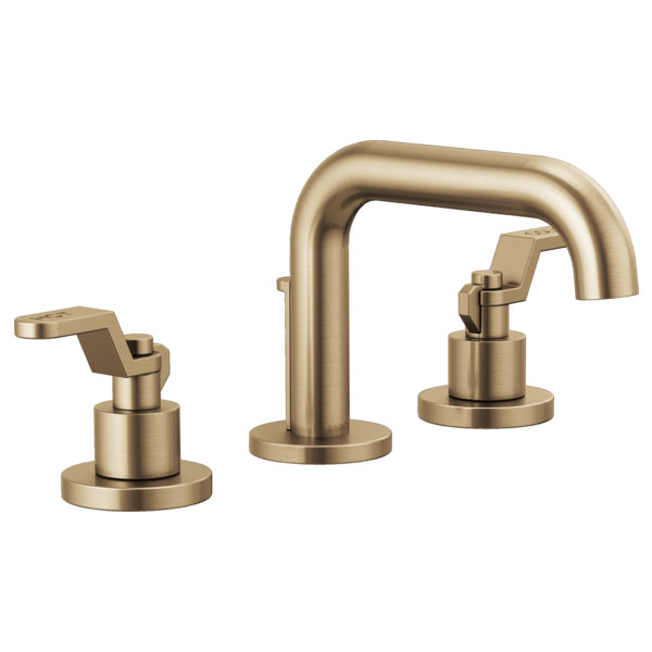 Brizo 65337LF-GLLHP Litze Widespread Lavatory Faucet with Less Handles - Luxe Gold