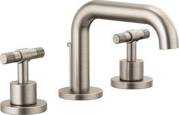 Brizo 65337LF-NKLHP-ECO Litze Widespread Lavatory Faucet with Less Handles - Luxe Nickel