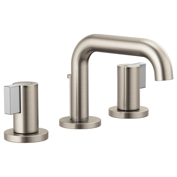 Brizo 65337LF-NKLHP Litze Widespread Lavatory Faucet with Less Handles - Luxe Nickel
