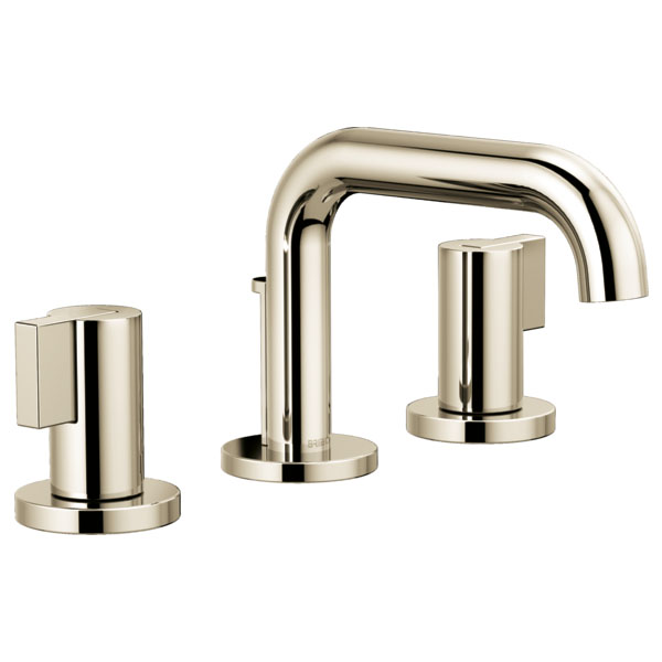 Brizo 65337LF-PNLHP Litze Widespread Lavatory Faucet with Less Handles - Polished Nickel