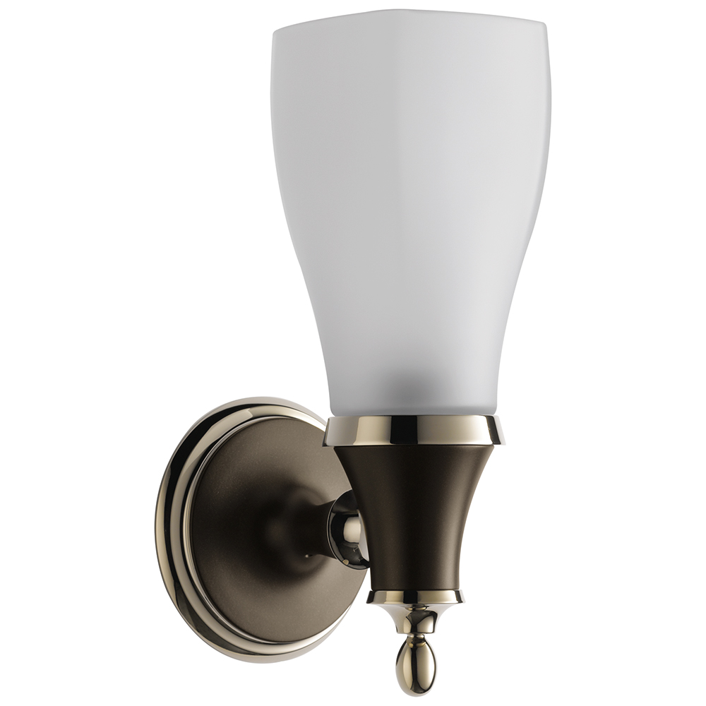 Brizo 697085-PNCO Charlotte Light - Single Sconce - Cocoa Bronze/Polished Nickel